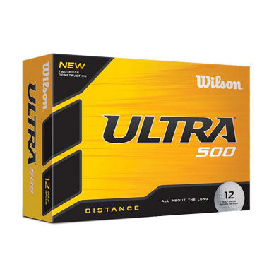 Wilson Ultra 500 Distance Text Imprinted Golf Balls