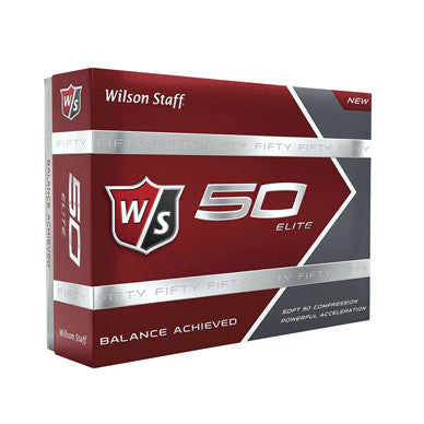 Wilson Staff Fifty Elite Text Imprinted Golf Balls