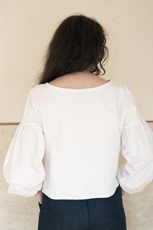 White Organic Cotton Britta Top