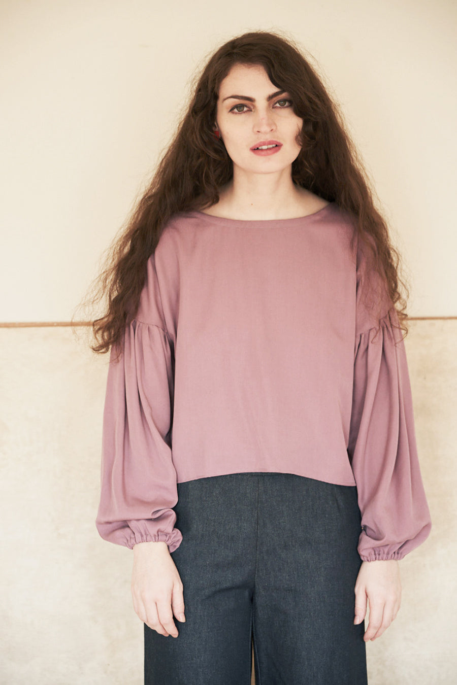 Elise Ballegeer Sustainable Tencel Britta Top in Primrose