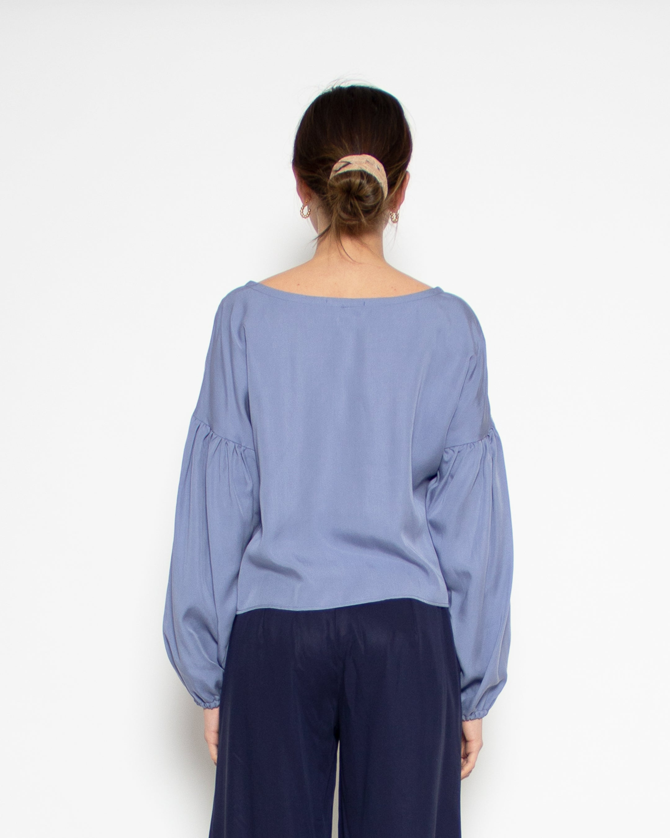 Britta Top in Cornflower Tencel