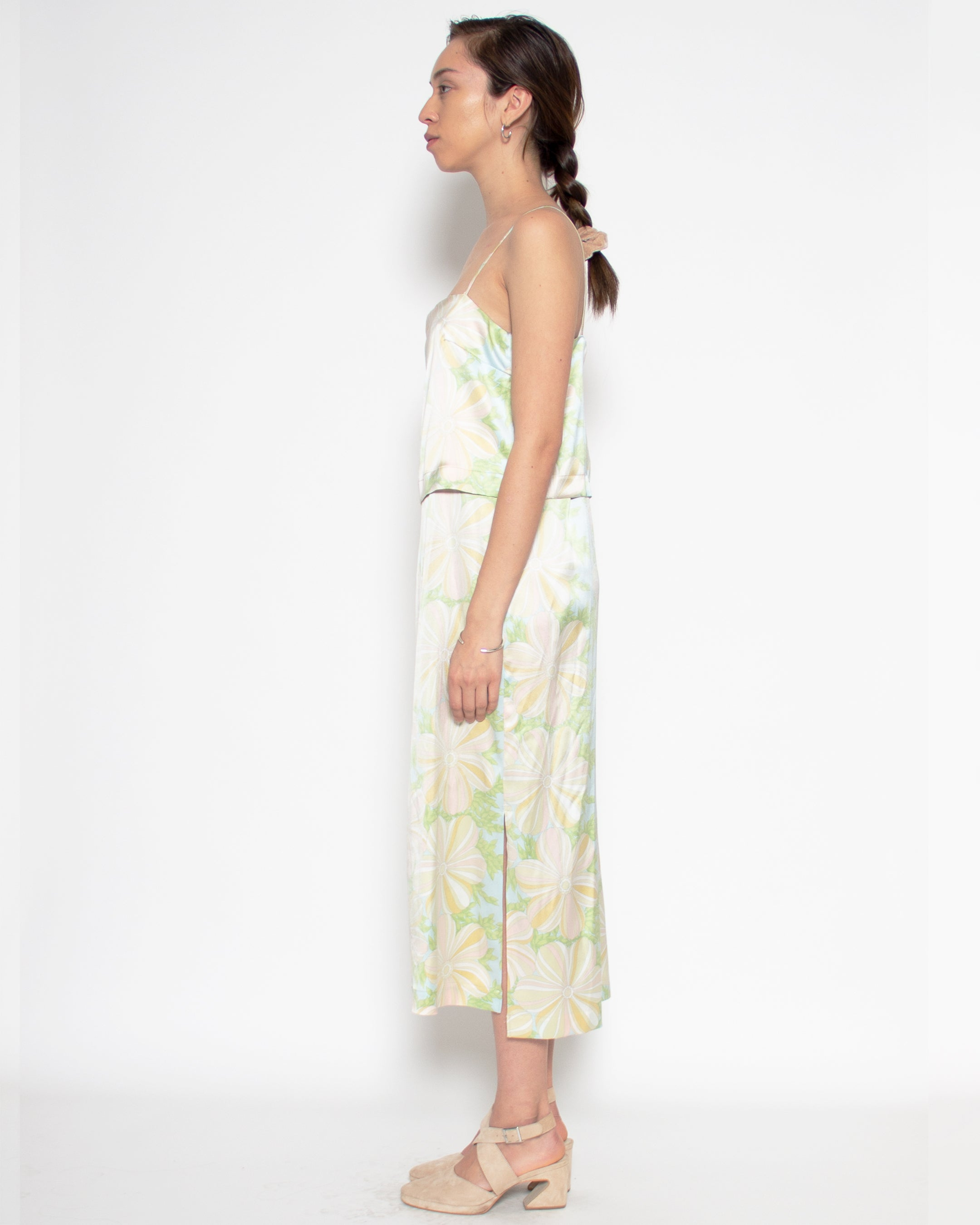 Camilla Dress in Reclaimed Silk Floral Print