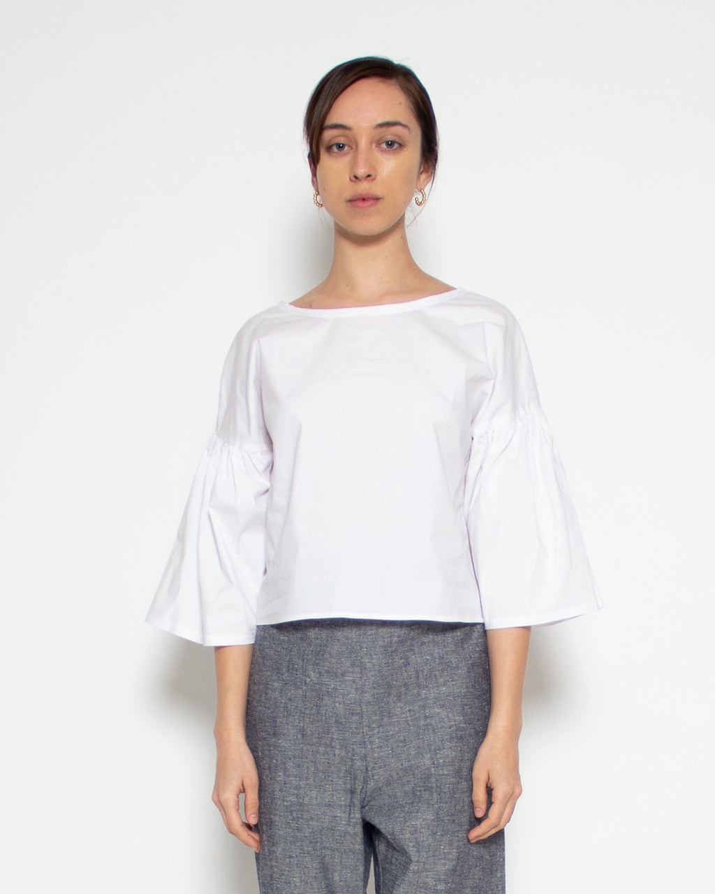 Hiro Top in White Organic Cotton