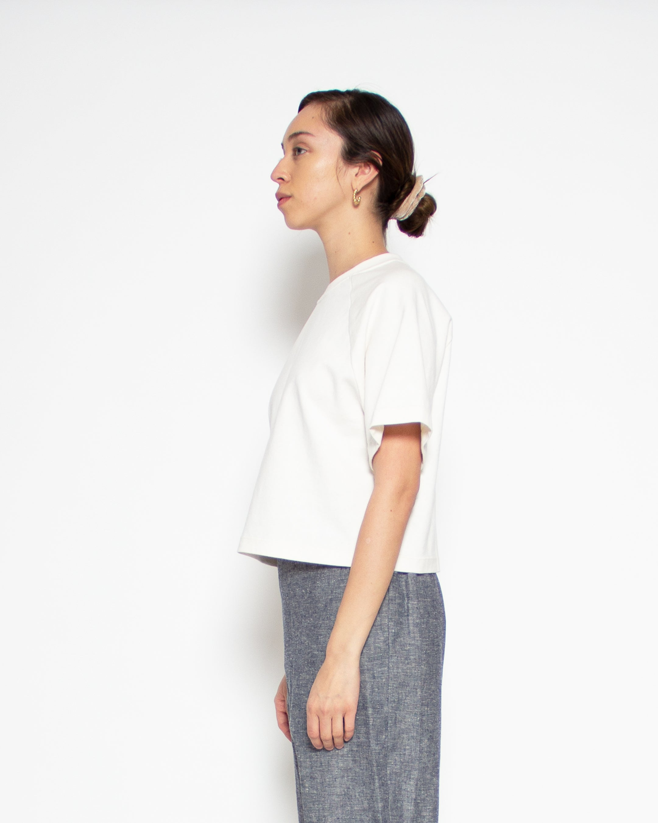 Melody Crop Tee in Natural Hemp-Organic Cotton