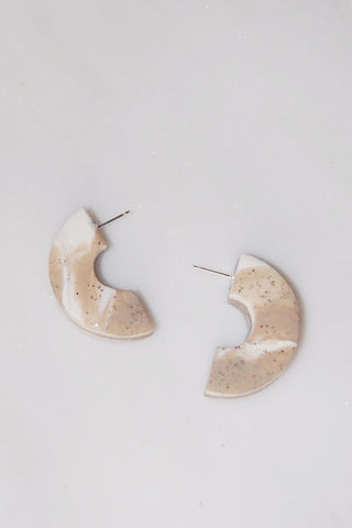 Meryl Earrings - Sand Dune Marble