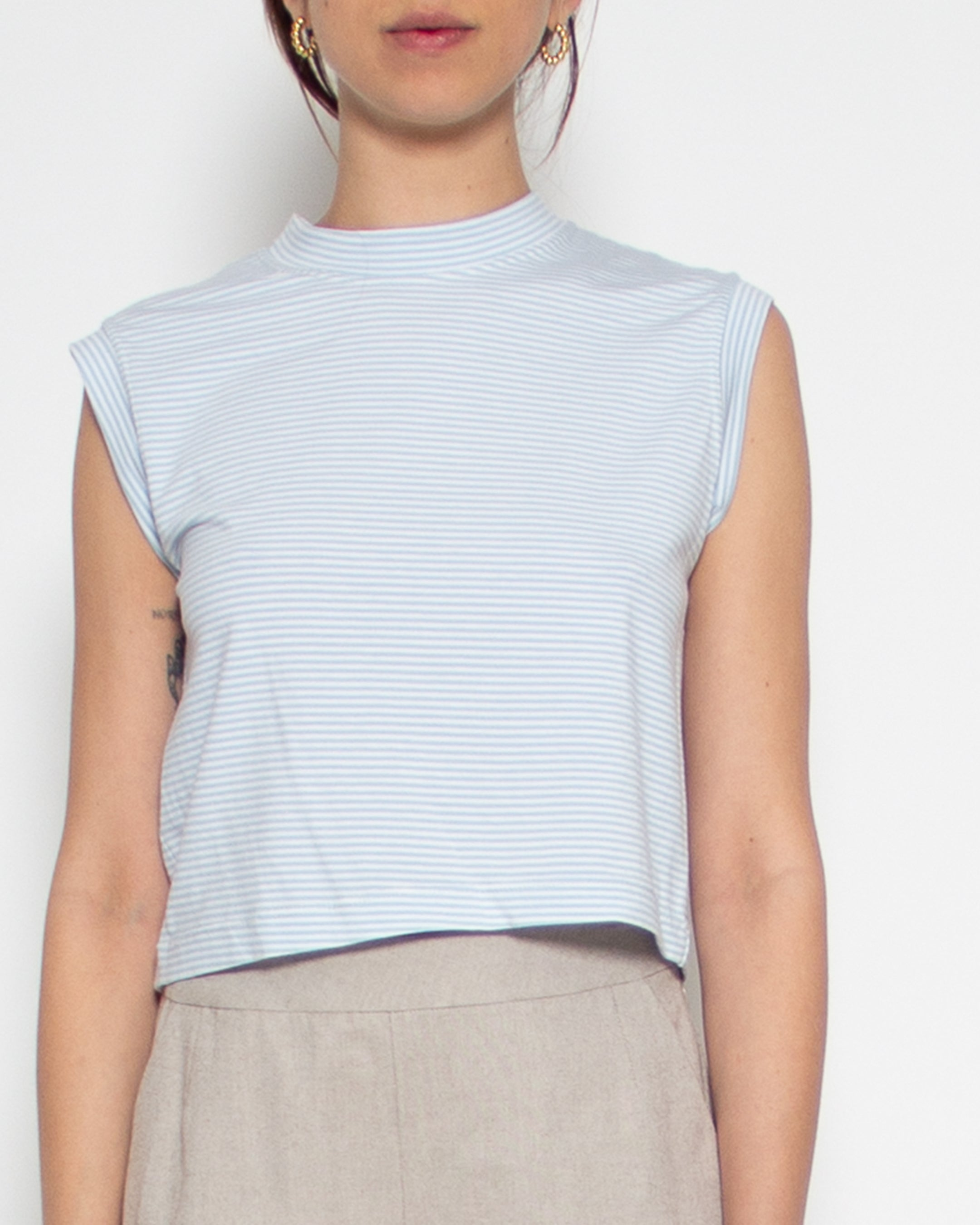 Minerva Tank in Sky Stripe Bamboo-Organic Cotton
