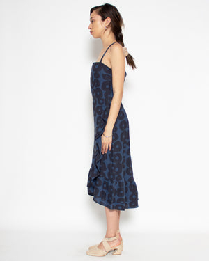 Narella Dress in Aegean Print Linen