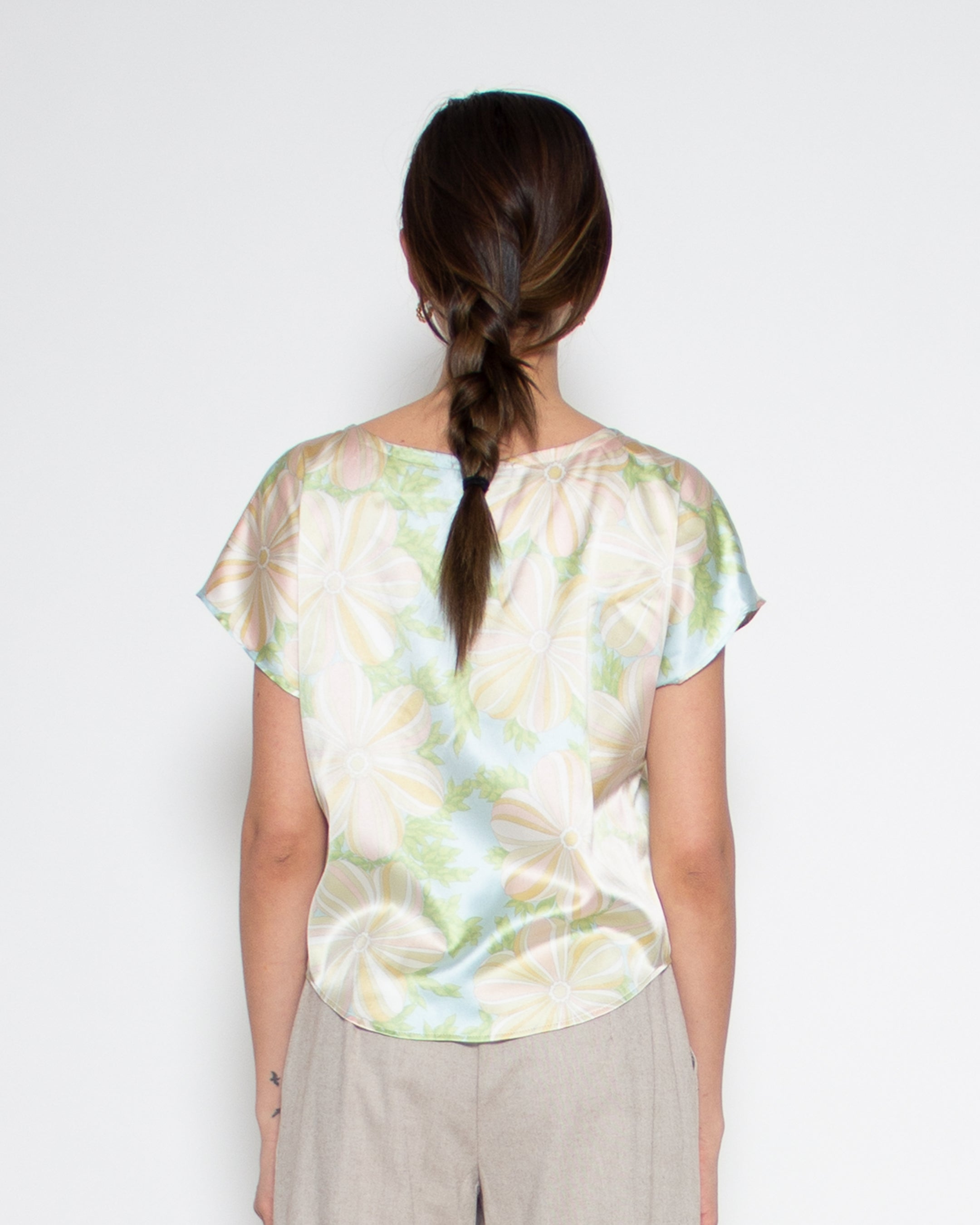 Sonia Top in Silk Floral Print