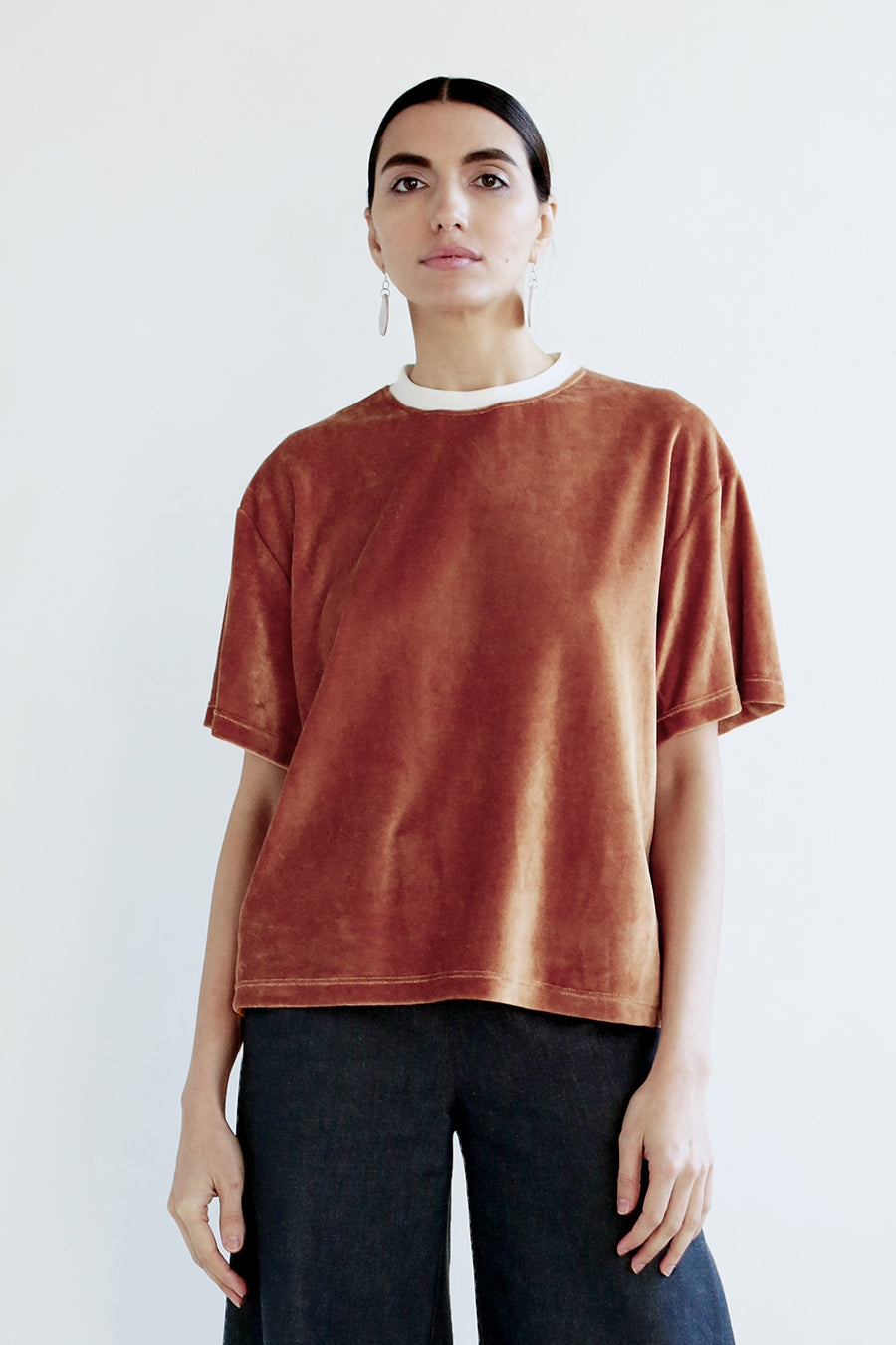 Velour Agnes Top - Amber