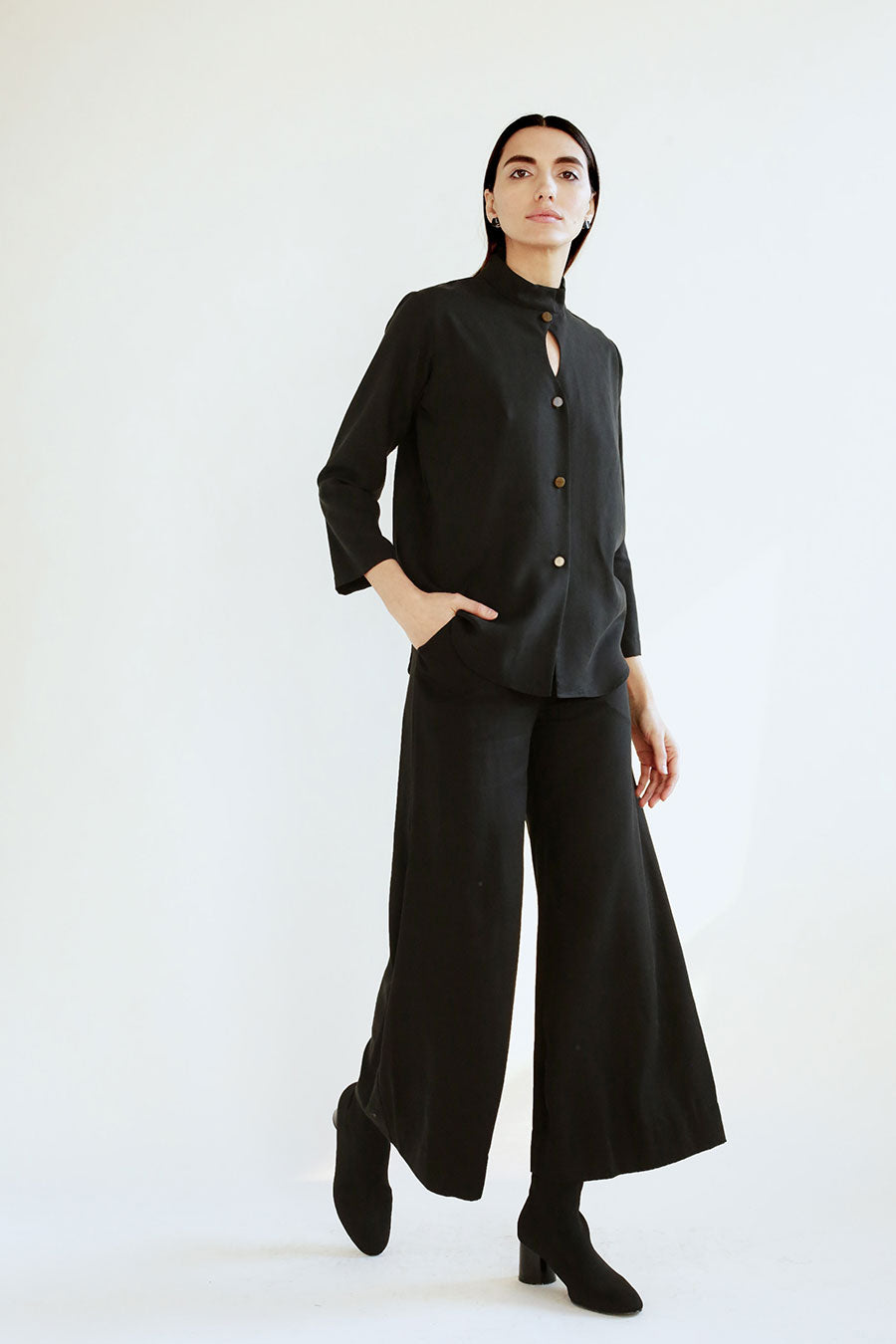 Aida Trouser in Black Tencel