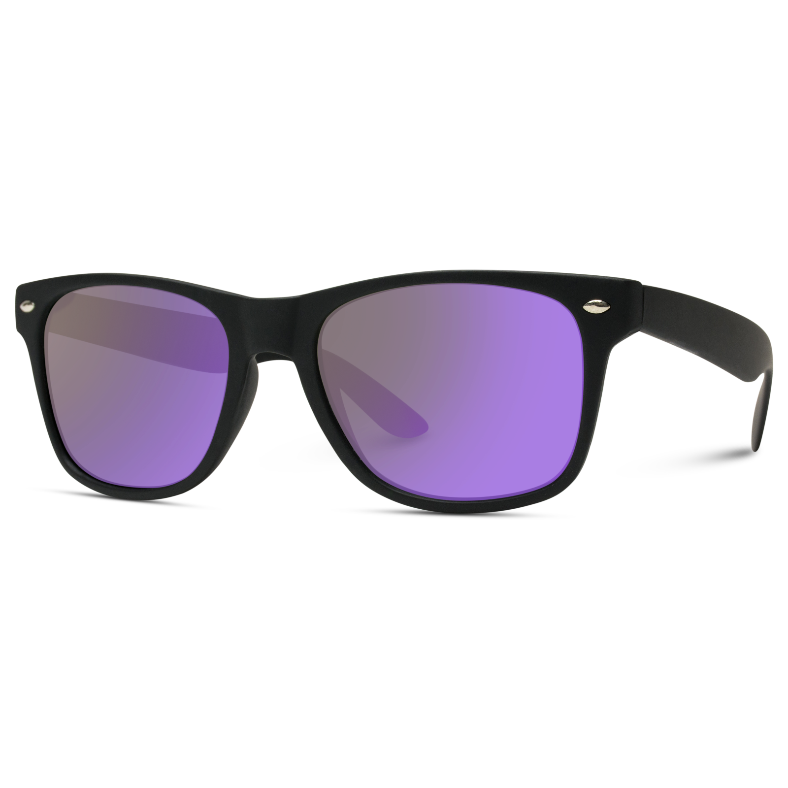 Jake - Polarized Mirrored Retro Square Frame Sunglasses