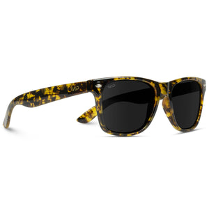 Finley Classic Square Black Retro Horn Rimmed Women Men Sunglasses
