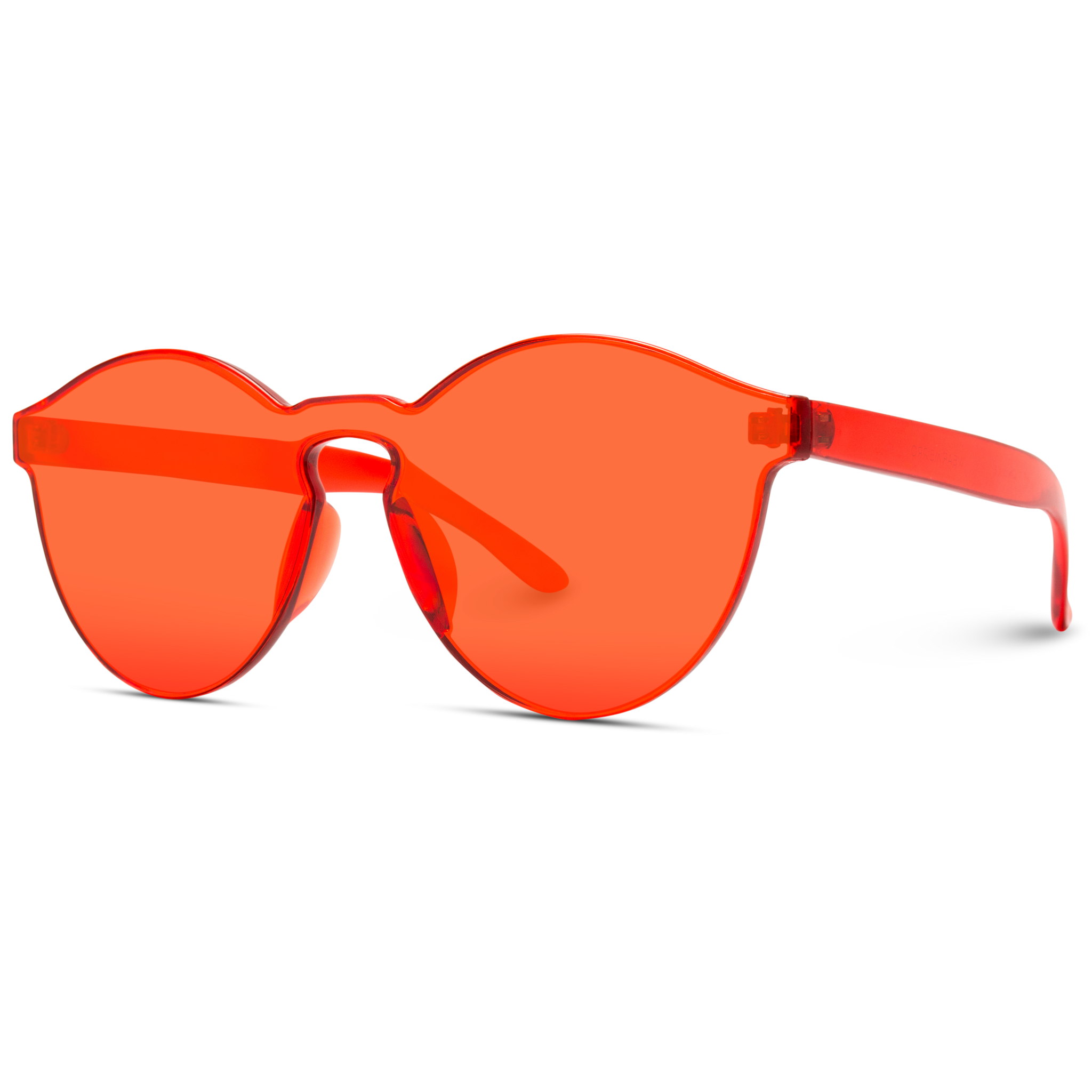round red oversized sunglasses for women