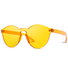 round tinted orange retro party sunglasses