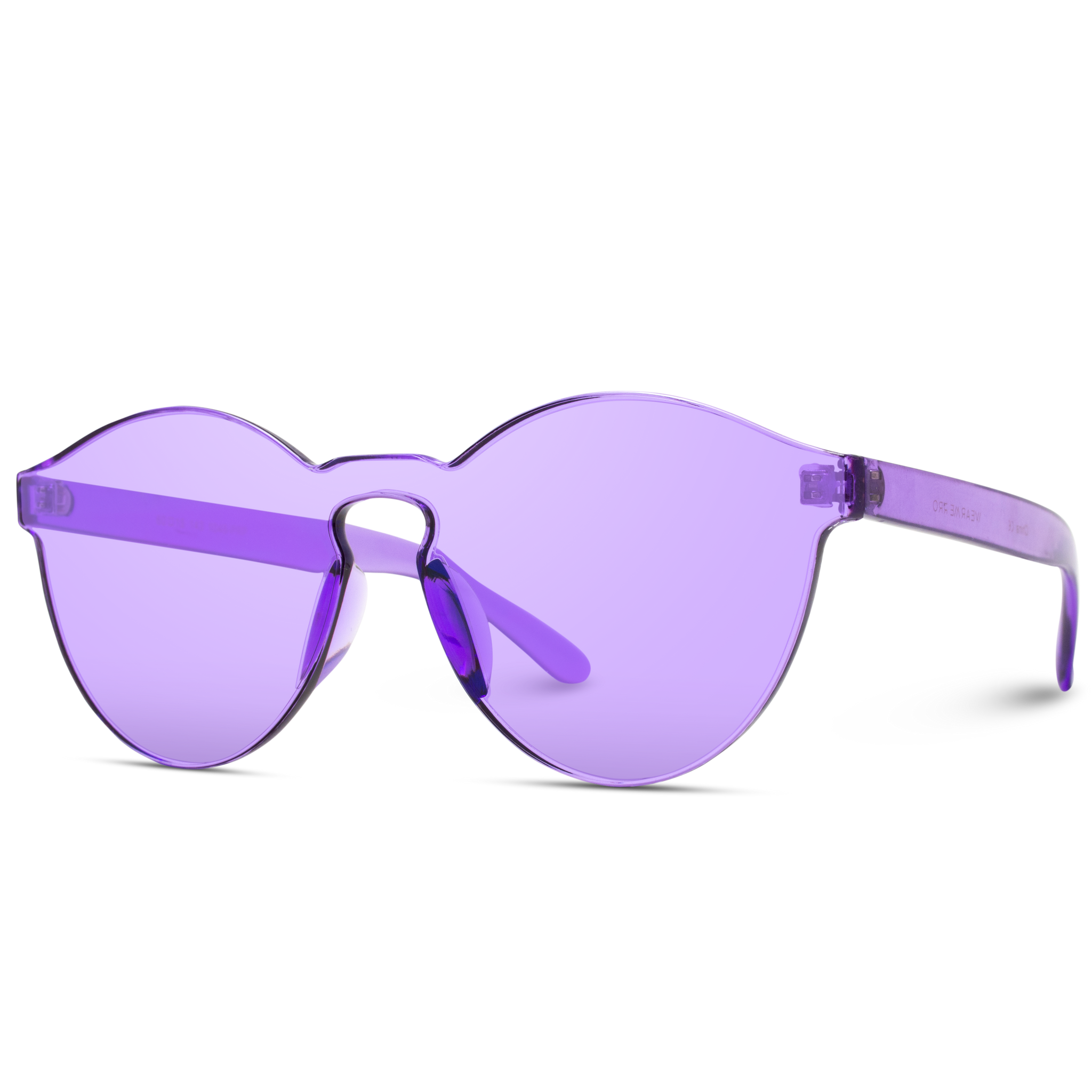 tinted purple round women sunglasses