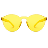 round yellow tinted retro sunglasses, women yellow tint sunglasses