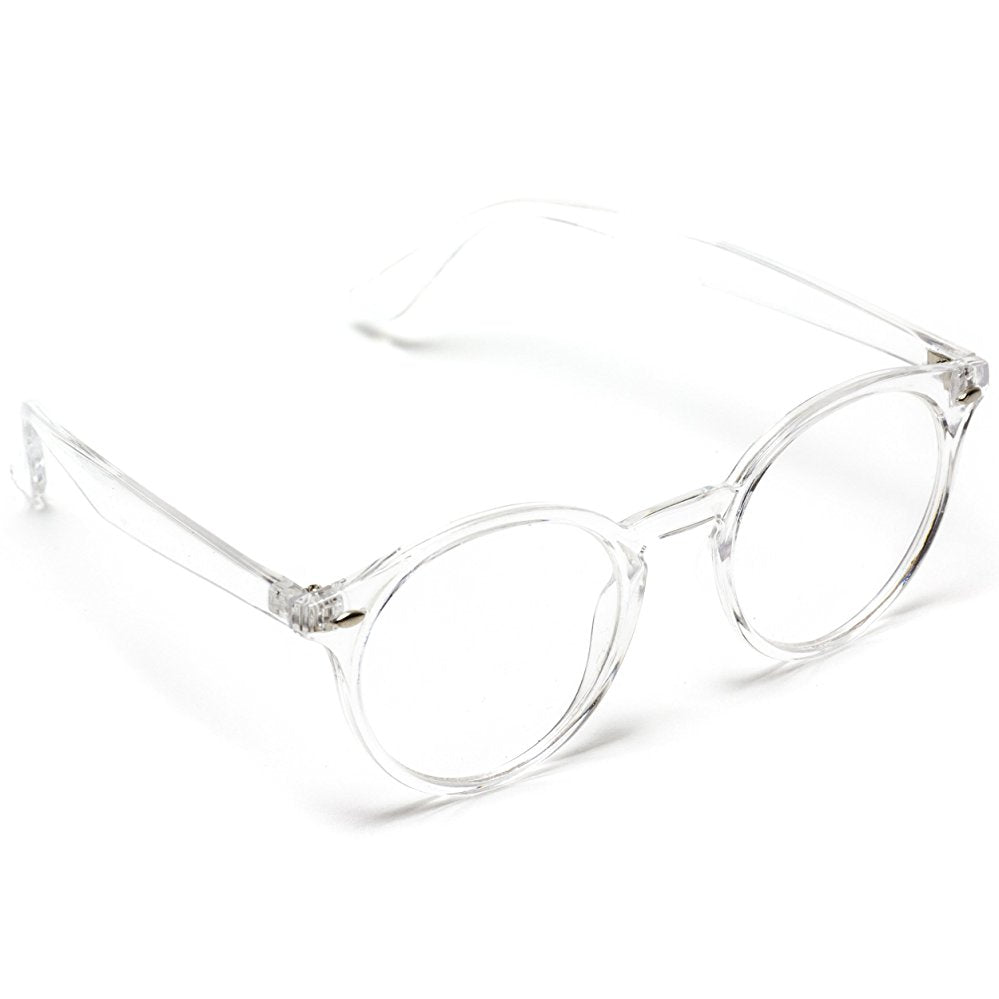 c6e24e200ac Ainsley Transparent Clear Frame Round Hipster Glasses I WearMe Pro