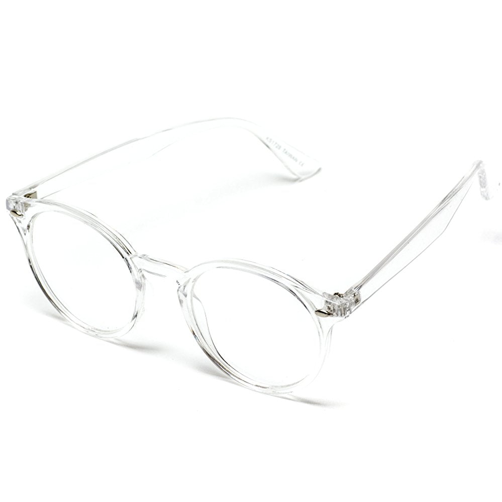 Transparent clear non prescription retro glasses, clear frame glasses, fashion glasses