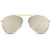 gold lens gold frame aviator sunglasses