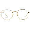 gold frame sunglasses clear lens