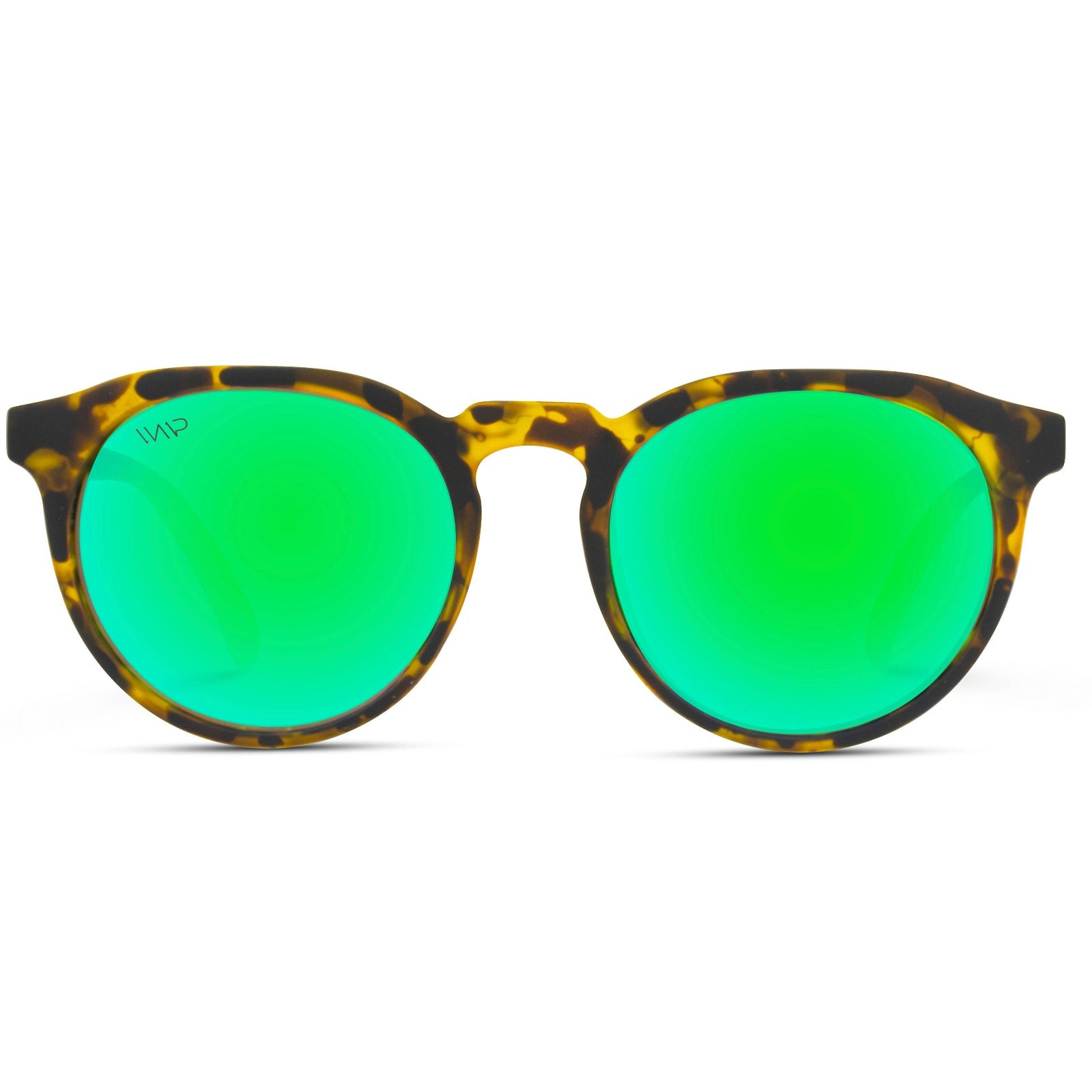Cameron Round Retro Flat Top Mirrored Unisex Sunglasses
