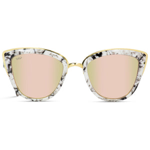 marble frame mirror pink cat eye sunglasses for women