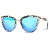 mirror blue women designer cat eye sunglasses marble frame print