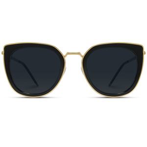 Shay Oversized Metal Frame Cat Eye Sunglasses
