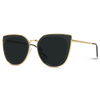 Shay Oversized Metal Frame Revo Cat Eye Sunglasses