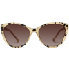 beige tortoise frame women cat eye shape sunglasses