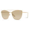 full gold cat eye large sunglasses