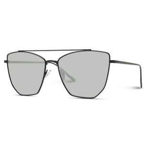 oversized silver lens cat eye sunglasses