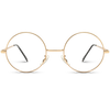 gold frame round prescription frame glasses, cheap circle glasses