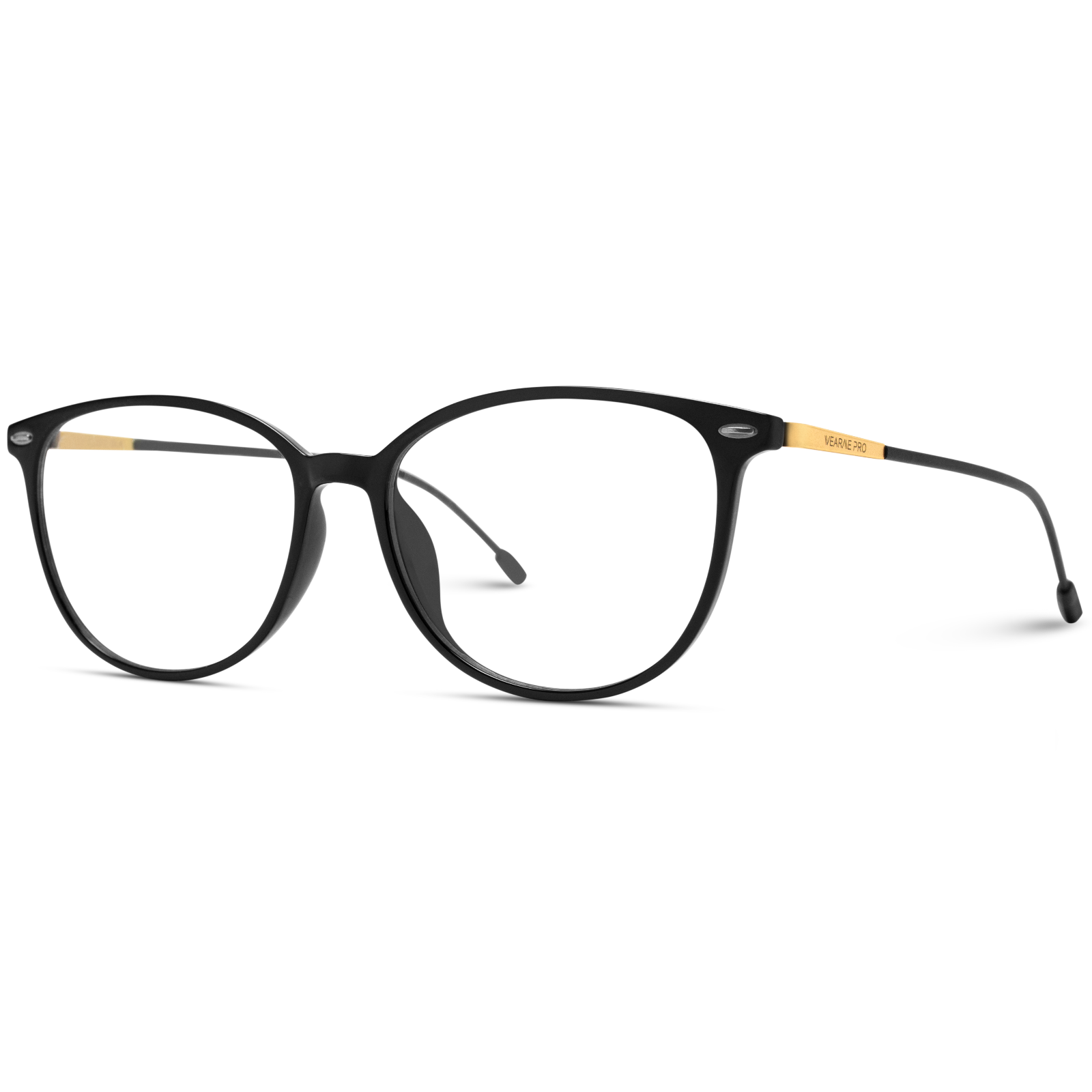 metal accent rectangular eyewear
