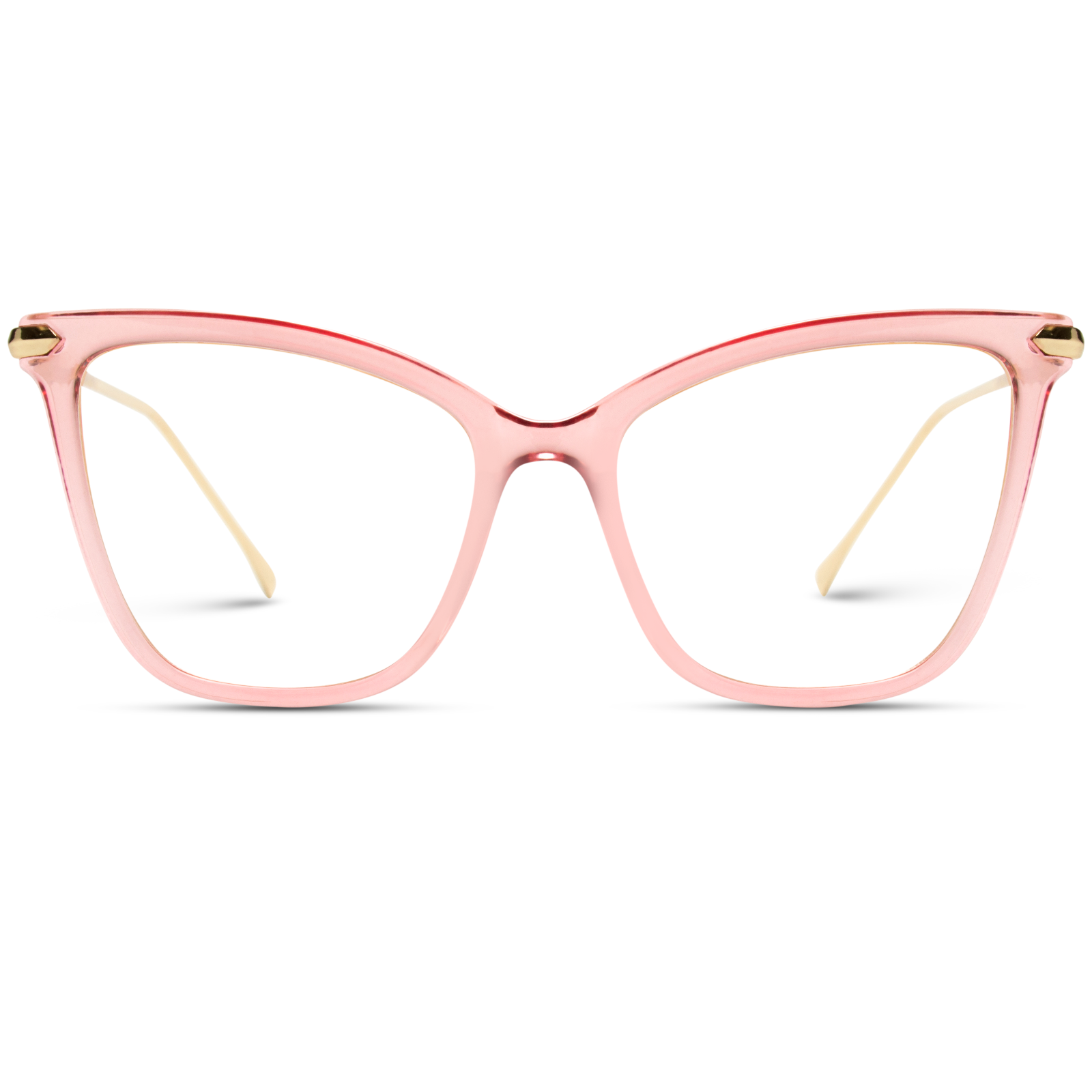 pink clear frame women cat eye glasses, elegant pink prescription eyeglasses