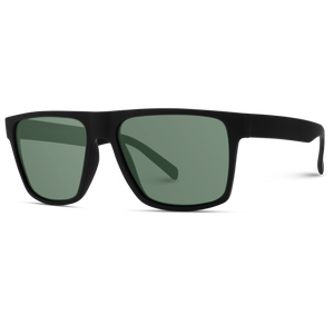 Damon Flat Top Square Matte Frame Polarized Sunglasses
