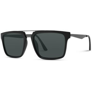 Mason - Polarized Black Square Frame Sunglasses