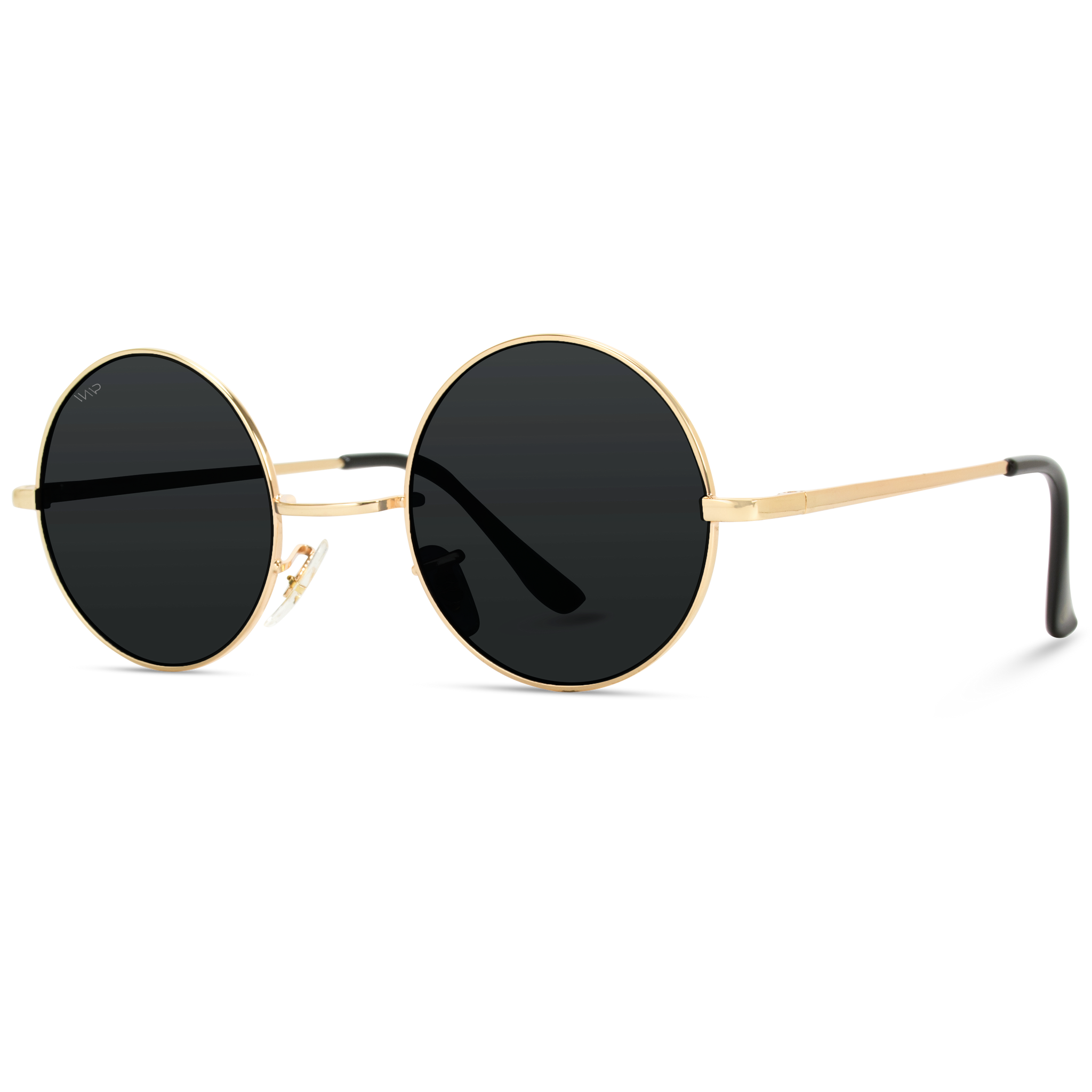 gold frame round metal frame circle sunglasses