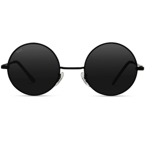 black round circle frame retro sunglasses, john lennon shape sunglasses