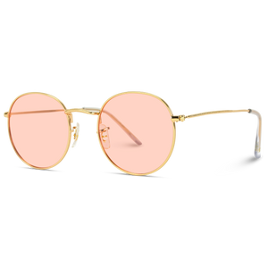festival glasses round pink