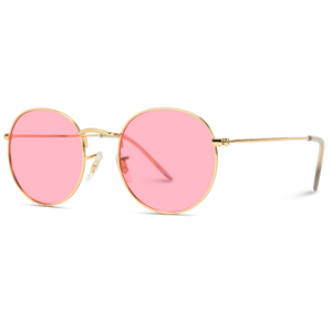 gold frame cute sunglasses for vacation