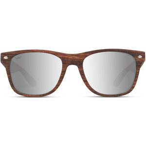 Adrian Wooden Design Square Horn Rimmed Style Sunglasses