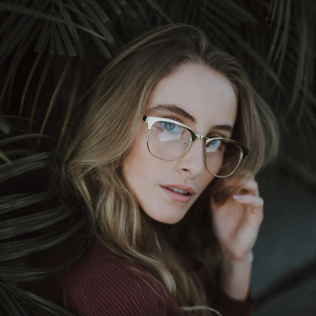 lightweight metal frame clear lens glasses