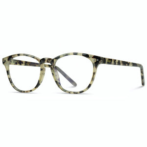 Luna Women Round Classic Horn Rimmed Blue Light Blocking Computer Glasses
