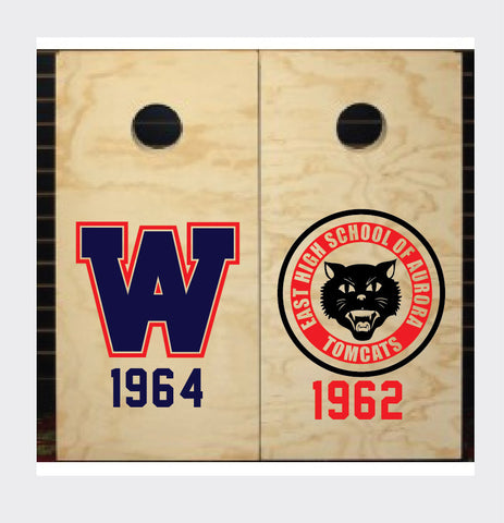 CORNHOLE BOARD DECALS  - ANY STICKER, ANY SIZE, ANY COLOR