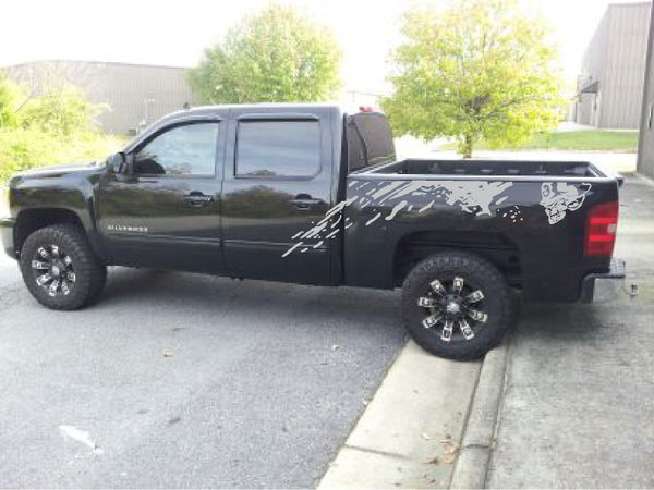 Ford F150 SVT RAPTOR METAL MULISHA decal bed mud graphic sticker