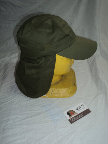 Cotton Cap with Neck Protector - Green