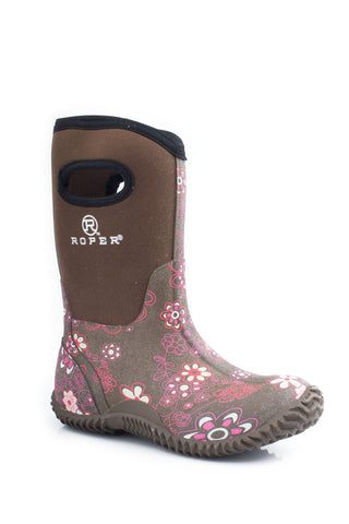 ROPER KIDS  BOOT WESTERN RUBBER/SYN BARN BOOT BOOTS