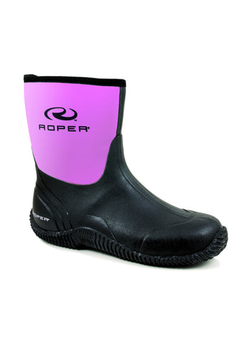 ROPER LADIES  BOOT WESTERN RUBBER/SYN BARN BOOT WORK