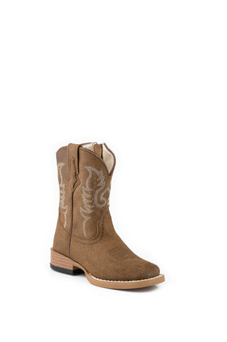 ROPER INFANT  BOOT WESTERN SQ TOE LEATHER BASIC BOOTS
